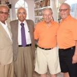 Steve Braun, Dr. Kanti Rai, Chief, Hematology/Oncology Long Island Jewish Medical Center; Tom Gambino, Sr. Richard Morabito